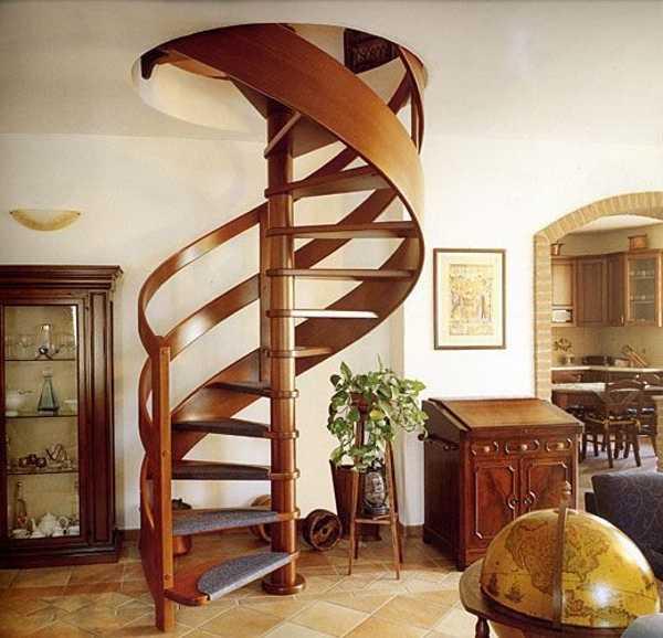Винтовая лестница в дизайне интерьера